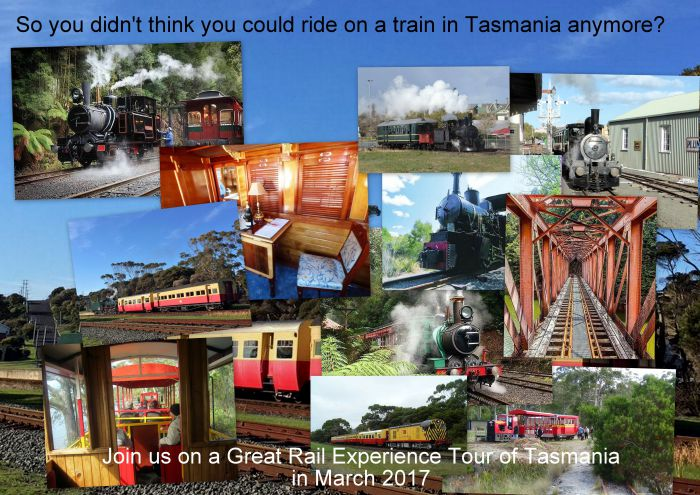 Great Rail Experiences  Tasmania Tour 2017 - Accommodation Gold Coast